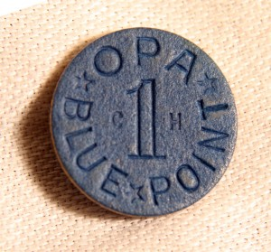 Blue Token Used For Processed Food-http:/www.shopbabyboomercollectiblels.com